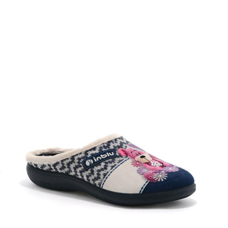 Papuci de casa femei INBLU EC49004BLU