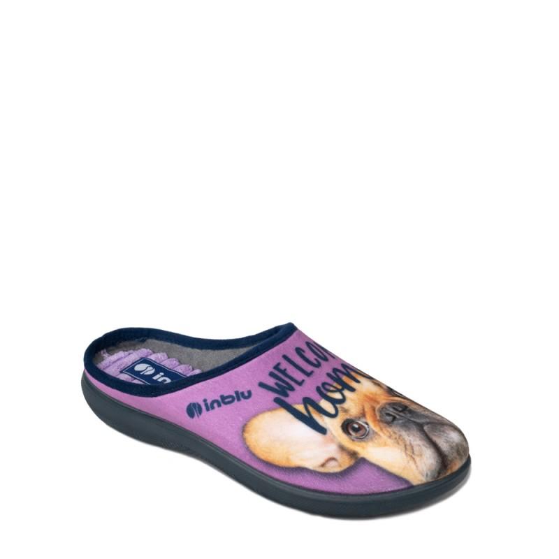 Papuci de casa femei INBLU EC51029GLICINE