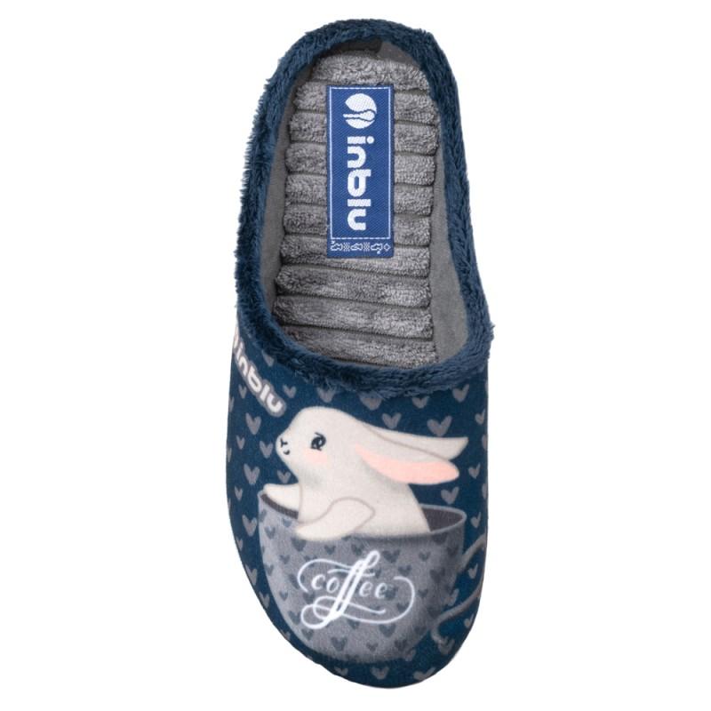 Papuci de casa femei INBLU EC60004BLU