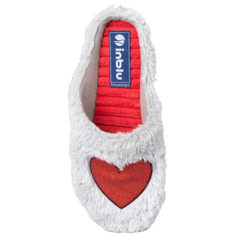 Papuci de casa femei INBLU EC65025GRIGIO