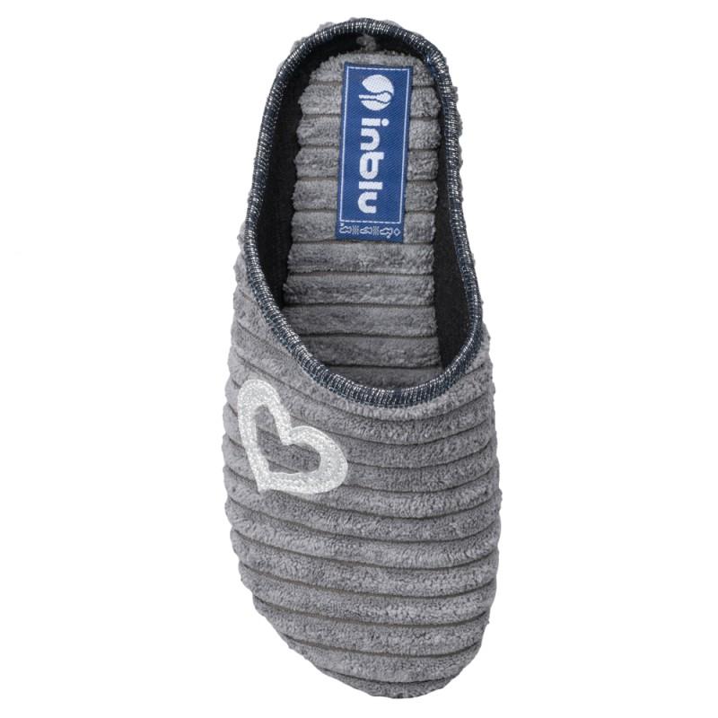 Papuci de casa femei INBLU EC67025GRIGIO