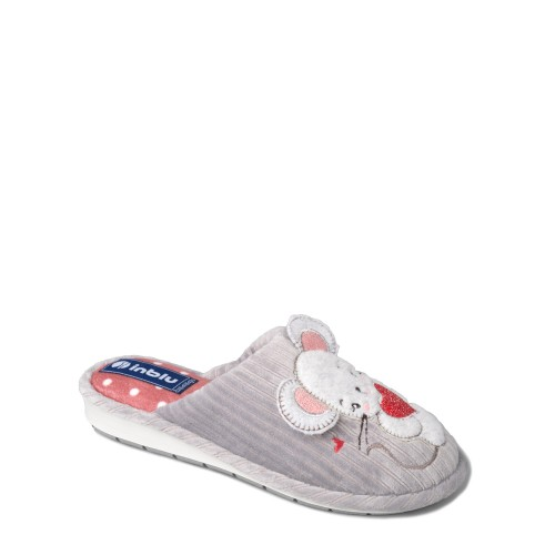 Papuci de casa femei INBLU LB84025GRIGIO