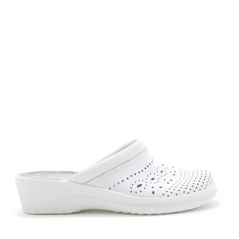 Saboti din piele Daco 585 alb